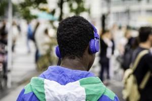 Man with headphones by Sascha Kohlmann